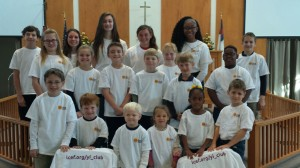 Students at Immanuel Lutheran School in Memphis proudly display their Y.I. Club t-shirts, a unique perk introduced by principal, Todd Baringer.