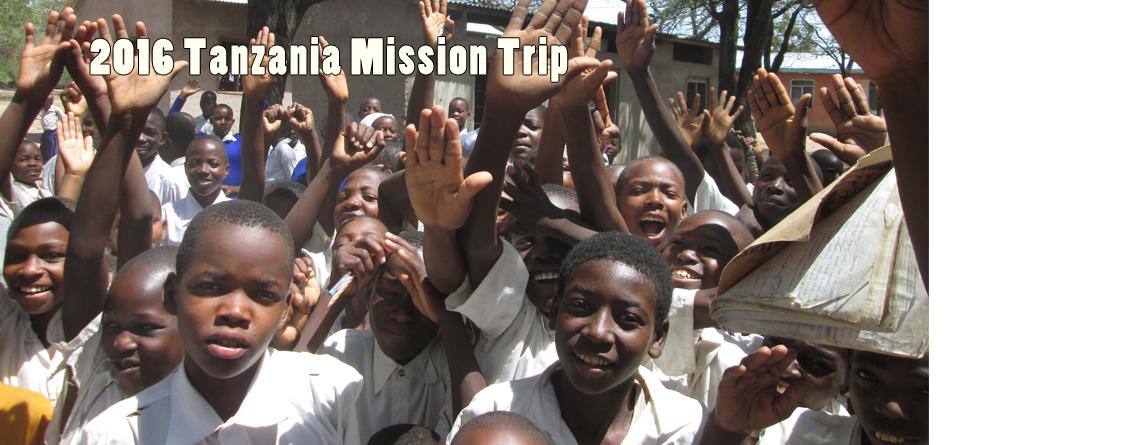 Tanzania Mission Trip-May 19, 2016