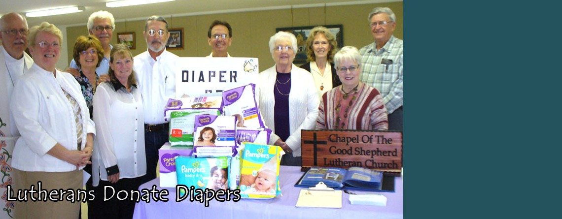 Lutherans Donate Diapers