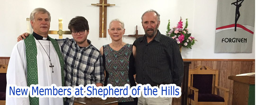 New Members received at Shepherd of the Hills